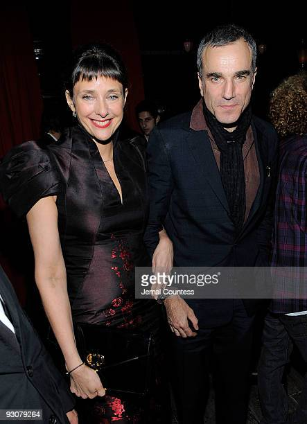 Film director Rebecca Miller and actor Daniel DayLewis attend the Cinema Society and A Diamond is Forever after party screening of The Private Lives...