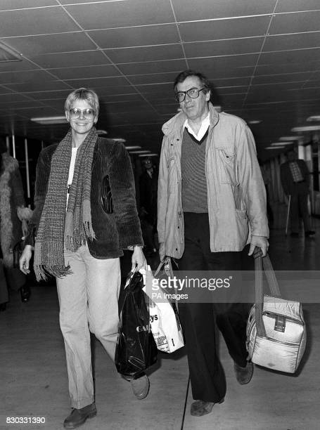 Film director Roger Vadim at London's Heathrow Airport with actress Cindy Pickett leaving for Los Angeles California USA after promoting his new film...
