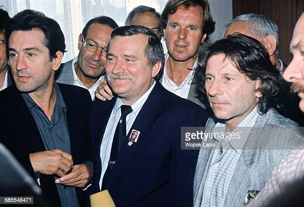 Film director Roman Polanski and American actor Robert De Niro paid a visit to 'Solidarity' trade union leader Lech Walesa Gdansk 26th September 1989...