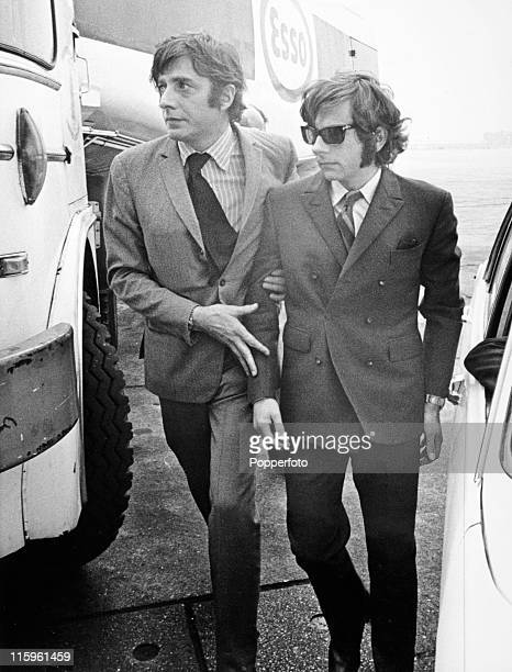 Film director Roman Polanski is helped to the plane at Heathrow Airport London which will fly him to Los Angeles after hearing about the ritual...