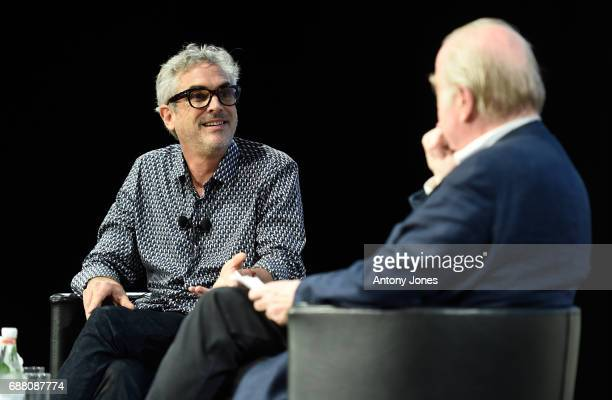 Film director screenwriter producer Alfonso Cuaron speaks during the Alfonso Cuaron Cinema Lesson during the 70th annual Cannes Film Festival at on...
