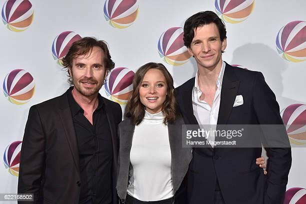 Film director Sebastian Niemann Sonja Gerhardt and Sabin Tambrea during the 'Jack the Ripper Eine Frau jagt einen Moerder' Premiere at Gloria Palast...