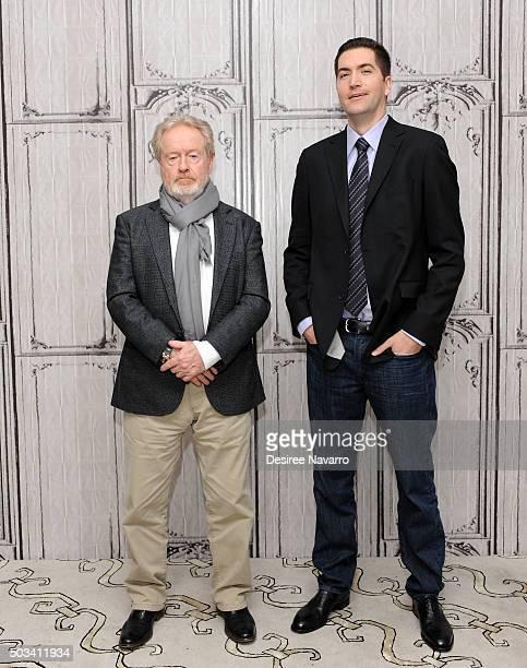 Film director Sir Ridley Scott and screenwriter Drew Goddard attend AOL BUILD Series Drew Goddard and Sir Ridley Scott 'The Martian' at AOL Studios...