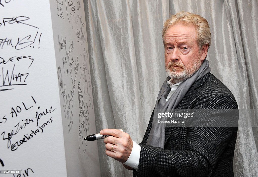 Film director Sir Ridley Scott attends AOL BUILD Series: Drew Goddard and Sir Ridley Scott, 'The Martian' at AOL Studios In New York on January 4, 2016 in New York City.