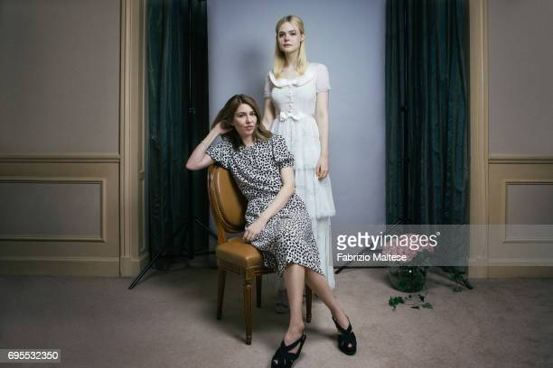 Film director Sofia Coppola with actor Elle Fanning are photographed for the Hollywood Reporter on May 23 2017 in Cannes France