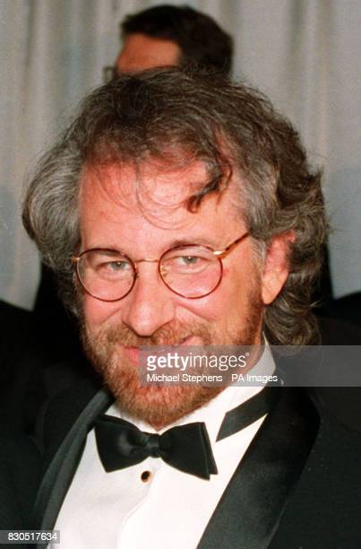 Film director Steven Spielberg at the Royal European premiere of Jurassic Park at the Empire Leicester Square in London * 12/12/95 celebrates his...