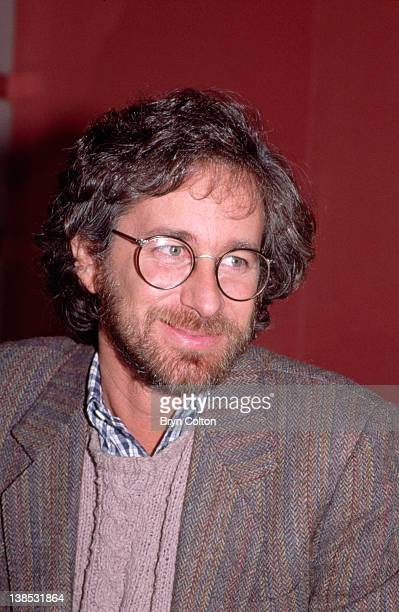 Film director Steven Spielberg pauses during a news conference to promote his new film 'Indiana Jones and the Temple of Doom' ahead of the Royal...