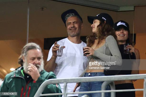 Film director Taika Waititi attends the round three NRL match between the South Sydney Rabbitohs and the Sydney Roosters at Stadium Australia on...