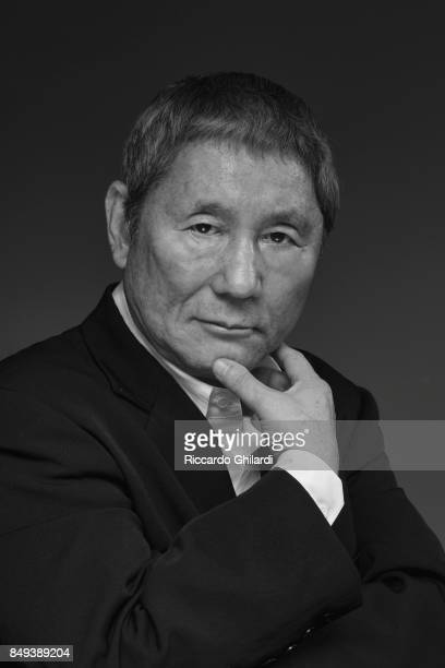 Film director Takeshi Kitano is photographed for Self Assignment on September 8 2017 in Venice Italy