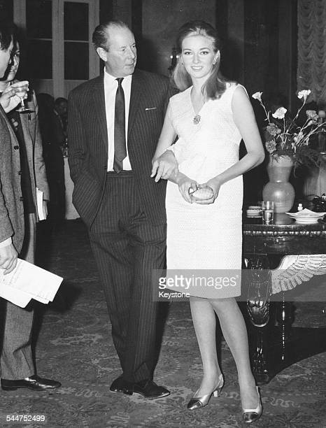 Film director Terence Young and actress Daniela Bianchi at a press conference announcing the new James Bond film 'From Russia With Love' Rome January...