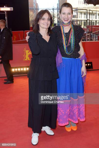 Film director Teresa Villaverde and actress Alice Albergaria Borges attend the 'Colo' premiere during the 67th Berlinale International Film Festival...