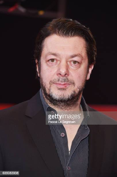 Film director Thomas Arslan attends the 'Bright Nights' premiere during the 67th Berlinale International Film Festival Berlin at Berlinale Palace on...