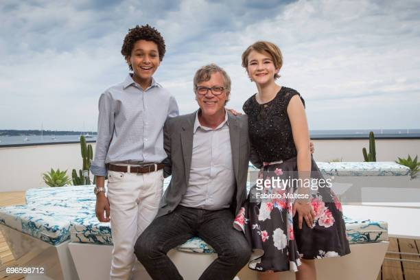 Film director Todd Haynes with actors Jaden Michael and Millicent Simmonds are photographed for the Hollywood Reporter on May 18 2017 in Cannes France