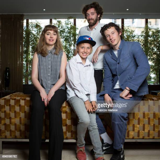 Film director Vladimir de Fontenay and actors Imogen Poots Callum Turner and Frank Oulton are photographed for the Hollywood Reporter on May 21 2017...