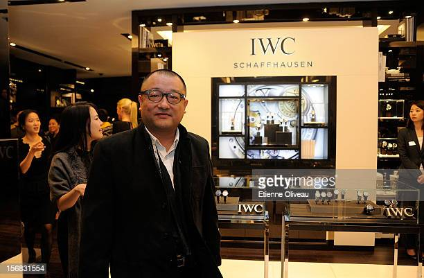 Film Director Wang Xiao Shuai is seen during the IWC Flagship Boutique Opening on November 22 2012 in Beijing China