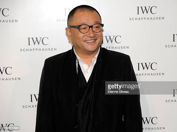 Film Director Wang Xiao Shuai poses for photographs during the IWC Flagship Boutique Opening on November 22 2012 in Beijing China