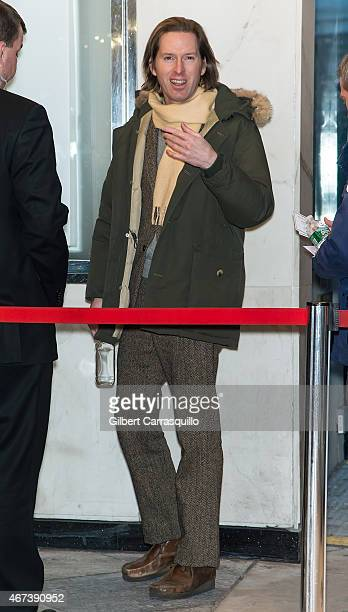 Film director Wes Anderson arrives at 'While We're Young' New York Premiere at Paris Theater on March 23 2015 in New York City