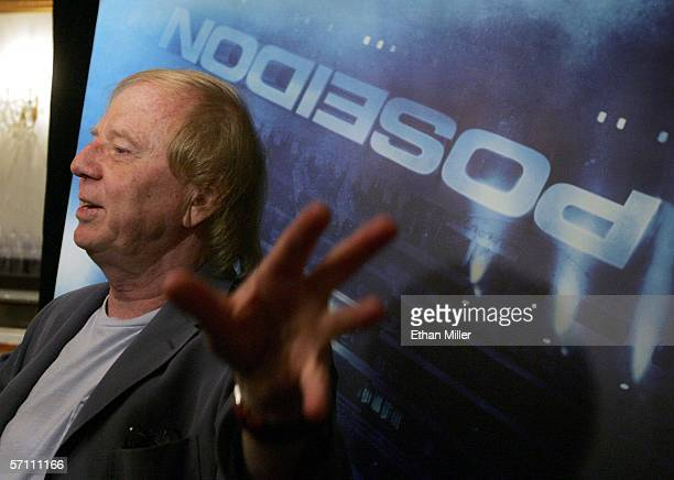 "Film director Wolfgang Petersen is interviewed about his upcoming movie ""Poseidon"" at the Paris Las Vegas during ShoWest, the official convention of..."