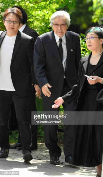 Film director Yoji Yamada attends the farewell ceremony for late film director Isao Takahata at Ghibli Museum on May 15, 2018 in Mitaka, Tokyo, Japan.