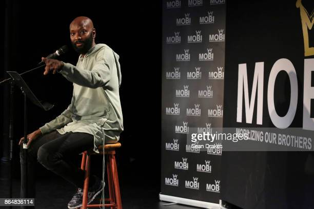Film director/producer and writer PatrikIan Polk speaks during MOBI Talks a life mentoring conference series at the National Black Theater of Harlem...
