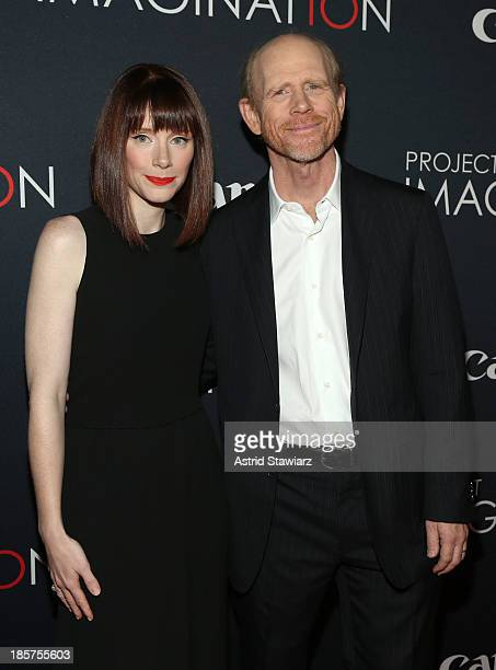 Film directors Bryce Dallas Howard and Ron Howard attend the Premiere Of Canon's Project Imaginat10n Film Festival at Alice Tully Hall on October 24...