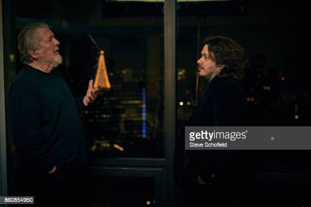 Film directors Edgar Wright and Walter Hill are photographed for Empire magazine on November 29 2016 in Los Angeles California
