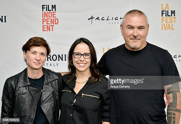 Film directors Kimberly Peirce Patricia Riggen and Tim Miller attend Coffee Talks Directors during the 2016 Los Angeles Film Festival at The Culver...