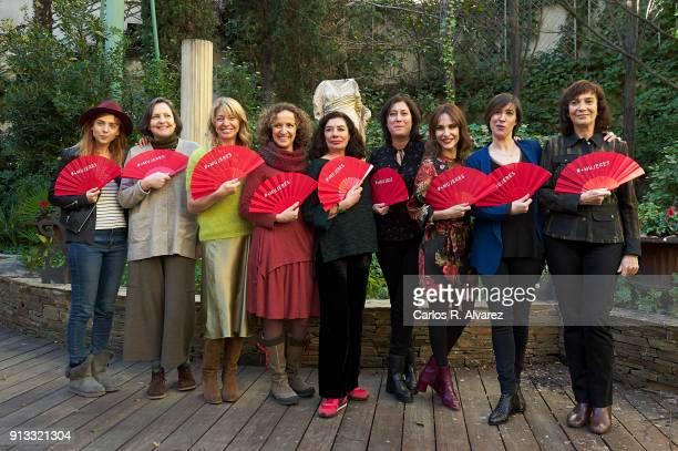 Film directors Leticia Dolera, Cristina Andreu, Ines Paris, Daniela Fejerman, Chus Gutierrez, Belen Macias, Paula Ortiz, Virginia Yague and Patricia...