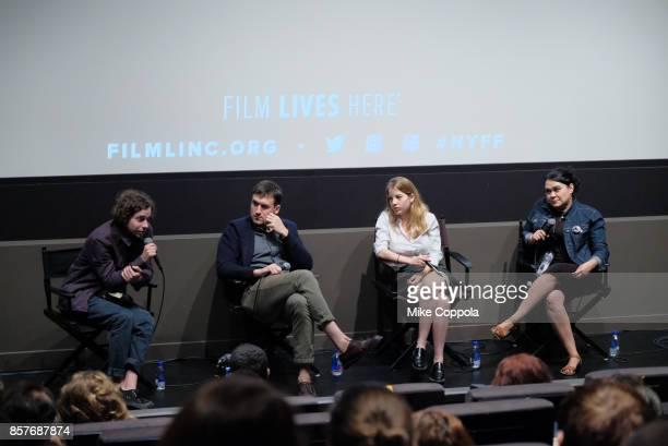 Film Directors Matvey Fiks Kazik Radwanski and Mariana Sanguinetti attend the 55th New York Film Festival Shorts Program 1 Narrative at Francesca...