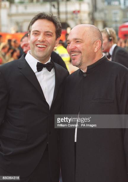 Film directors Sam Mendes and Anthony Minghella arrive at the Orange British Academy Film Awards at the Odeon Leicester Square London
