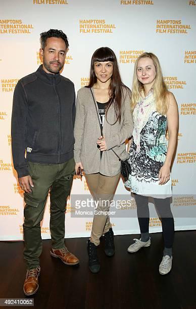 Film editor Alonso Llosa producer writer Olga Goister and Katya Mihailova attend Awards Brunch on Day 5 of the 23rd Annual Hamptons International...