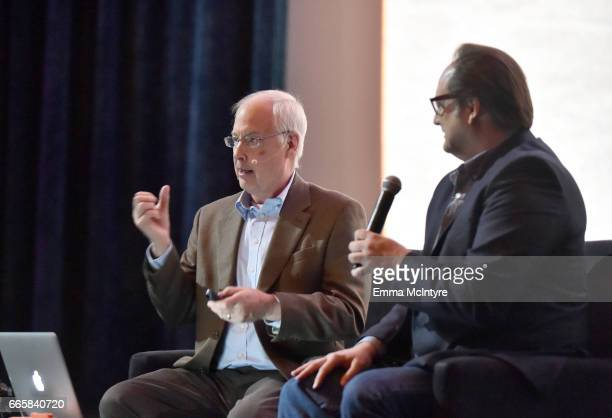 Film editor Ben Burtt and director Craig Barron speak during the screening of 'It's a Mad Mad Mad Mad World' during the 2017 TCM Classic Film...