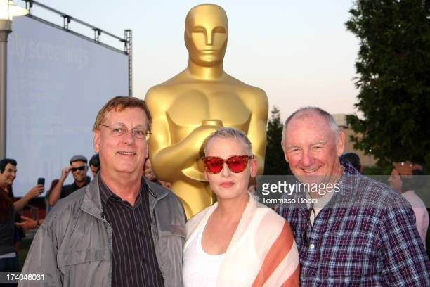Film editor Howard Smith actress Lori Petty and sound mixer David MacMillan attend the Academy of Motion Picture Arts and Sciences' Oscars Outdoors...