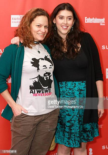 Film editor Jen Fineran and director Alison Klayman attend the 'Ai Weiwei' premiere during the 2012 Sundance Film Festival held at Library Center...