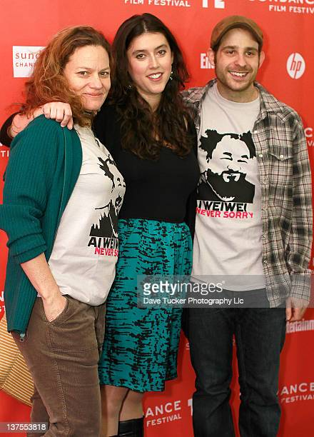 Film editor Jen Fineran director Alison Klayman and composer Ilan Isakov attend the 'Ai Weiwei' premiere during the 2012 Sundance Film Festival held...