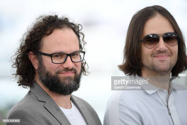 Film editor Julio Perez IV and Director David Robert Mitchell attend the photocall for the Under The Silver Lake during the 71st annual Cannes Film...