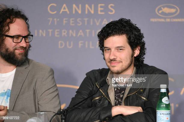 Film editor Julio Perez IV and Rich Vreeland attends 'Under The Silver Lake' Press Conference during the 71st annual Cannes Film Festival at Palais...