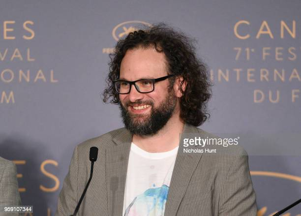 Film editor Julio Perez IV attends 'Under The Silver Lake' Press Conference during the 71st annual Cannes Film Festival at Palais des Festivals on...