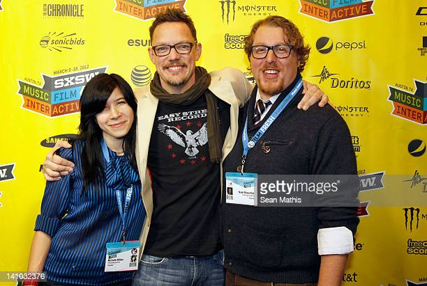 Film editor Michelle Witten director Matthew Lillard and cinematographer Noah Rosenthal attend Fat Kid Rules The World Red Carpet Arrivals during the...