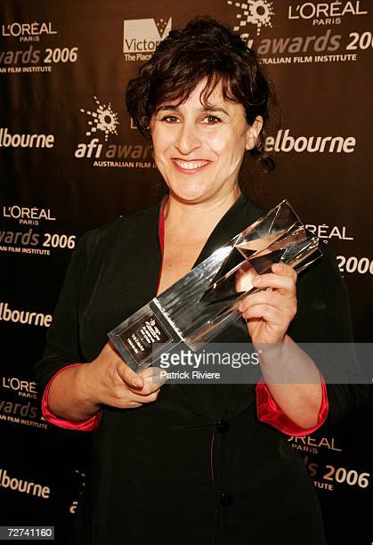 Film Editor Tania Nehme poses in the awards room with the award for Best Editing at the L'Oreal Paris AFI 2006 Industry Awards at the Melbourne...