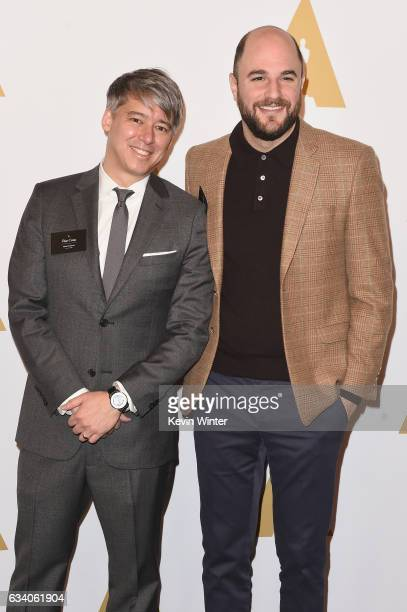 Film editor Tom Cross and producer Jordan Horowitz attend the 89th Annual Academy Awards Nominee Luncheon at The Beverly Hilton Hotel on February 6...