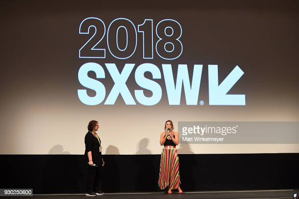 Film Festival Director Janet Pierson and Kay Cannon attends the 'Blockers' Premiere 2018 SXSW Conference and Festivals at Paramount Theatre on March...