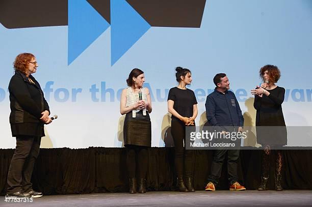 SXSW Film Festival Director Janet Pierson filmmaker Gillian Robespierre comedians/actors Jenny Slate and Gabe Liedman and producer Elisabeth Holm...