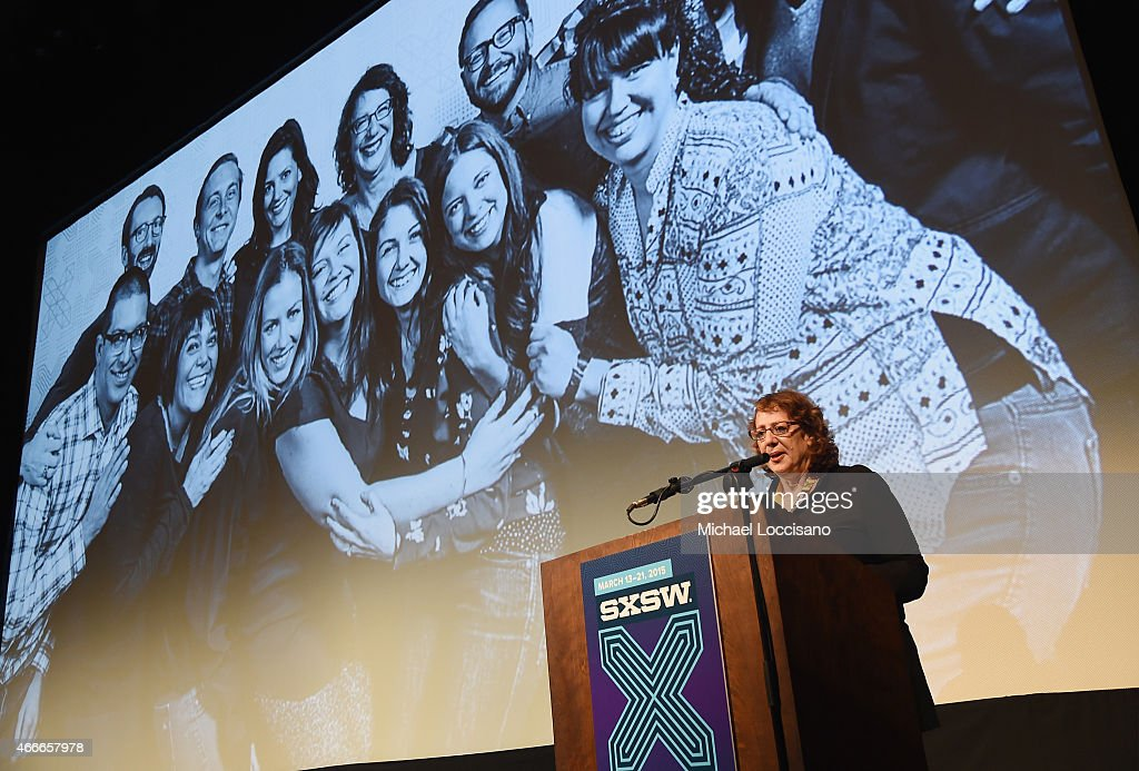 Film Festival Director Janet Pierson takes part in the SXSW Film Awards during the 2015 SXSW Music, Film + Interactive Festival at Paramount Theatre on March 17, 2015 in Austin, Texas.