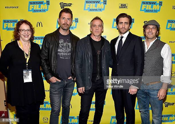 SXSW Film Festival Director Janet Pierson writer Bryan Sipe director JeanMarc Vallee actor Jake Gyllenhaal and Executive Producer Nathan Ross attend...