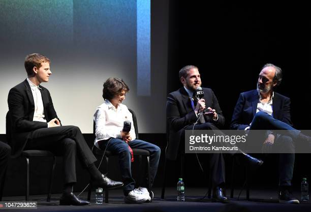 Film Festival Director Kent Jones speaks with director Jonah Hill and cast members Lucas Hedges and Sunny Suljic at the Mid90s at the Intro and QA...