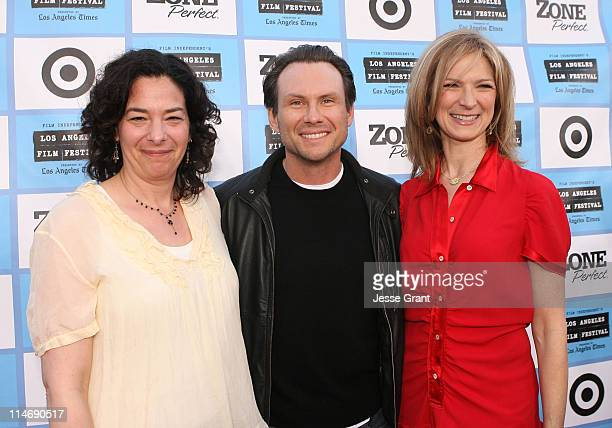 Film Festival Director of Programming Rachel Rosen, actor Christian Slater and Film Independent Executive Director Dawn Hudson arrive at the 2009 Los...