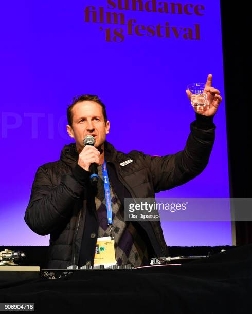 Film Festival Director of Programming Trevor Groth speaks onstage at the Filmmakers Welcome Reception during the 2018 Sundance Film Festival at The...