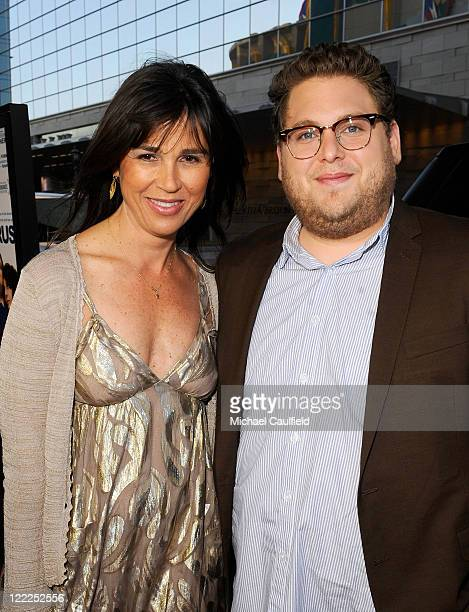 """Film Festival Director Rebecca Yeldham and actor Jonah Hill attend the """"Cyrus"""" gala screening during the 2010 Los Angeles Film Festival held at Regal..."""