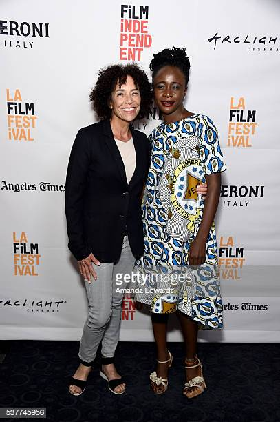 "Film Festival Director Stephanie Allain and director/writer/producer Leila Djansi attend the premiere of ""Like Cotton Twines"" during the 2016 Los..."